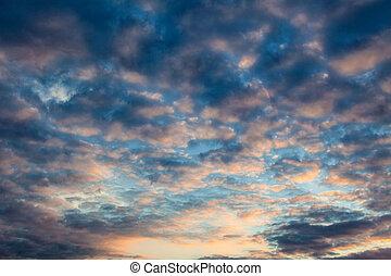 wolkenstimmung evening sky
