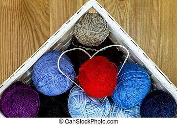 korb wolle nadeln kugeln strickzeug lila kugeln strickzeug rosa h lzern nadeln korb. Black Bedroom Furniture Sets. Home Design Ideas