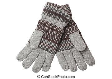wollen, gestrickt, warm, handschuhe