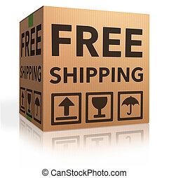 wolny, okrętowy, pakunek