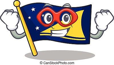 woluta, bohater, obraz, ubrany, tokelau, wspaniały, bandera