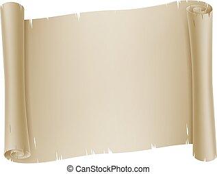 woluta, papier, pergamin, chorągiew, tło