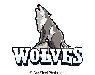 wolves banner illustration design
