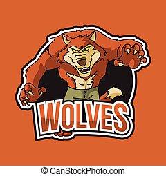 wolves illustration design