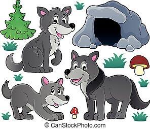Wolves theme illustration.