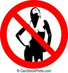 wom, prohibitif, nue, panneaux signalisations
