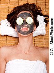 womale, máscara facial, skincare, spa