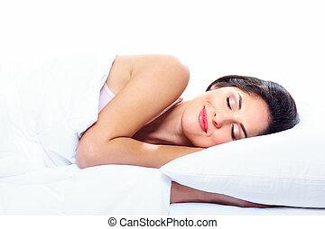 woman., κοιμάται