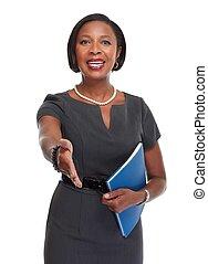 woman., ビジネス, african-american