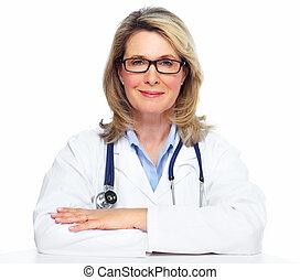 woman., 医者