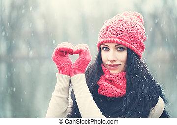 woman., 愛, 冬, クリスマス