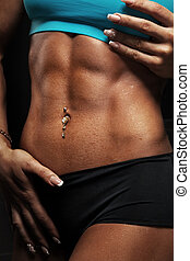 woman abdominal muscles
