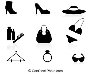 Woman accessories icons