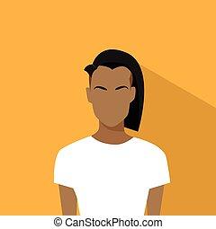 Woman African American Ethnic Profile Icon Avatar