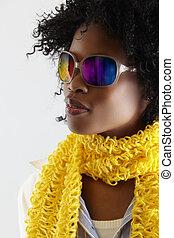 woman., african, disco