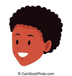 woman afroamerican smiling only face - woman afroamerican...