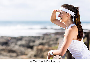 woman after morning exercise