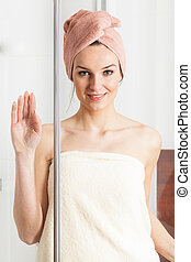 Woman after shower