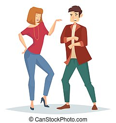 Woman and man dancing on dance floor at disco