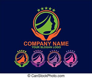 woman and man silhouette logo 05