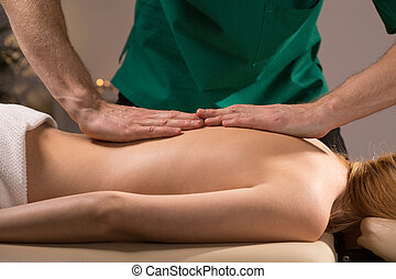 Woman and manual therapy
