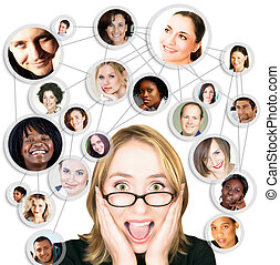 woman and social network