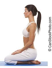 woman and yoga