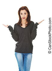 Woman angry gesturing