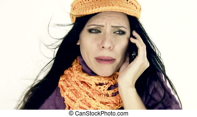 Woman angry on the phone