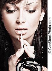 applying lipgloss