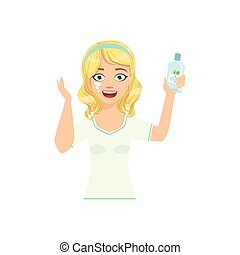Woman Applying Lotion Home Spa Treatment Procedure