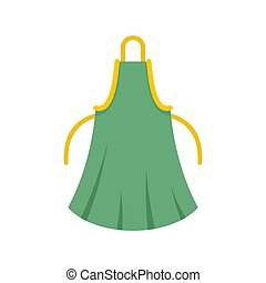 Woman apron icon, flat style