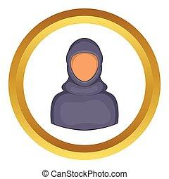 Woman Arab vector icon