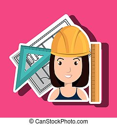 Woman Architecture Tools Plans