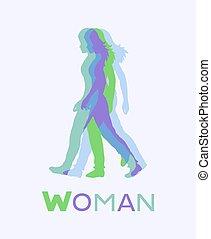 woman art draw