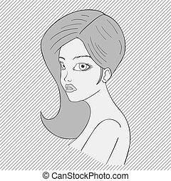 woman art draw style