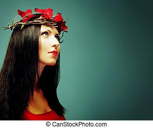Woman, art fashion portrait