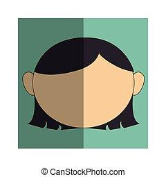 woman asian face icon