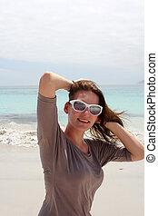 Woman at Beach of Kommetjie