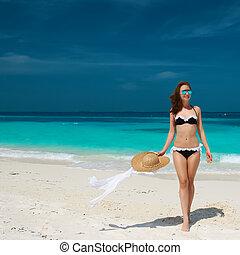 Woman at beach