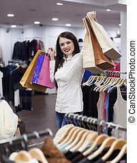 woman at clothing shop