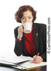 woman at desk 711