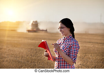 Woman at harvest