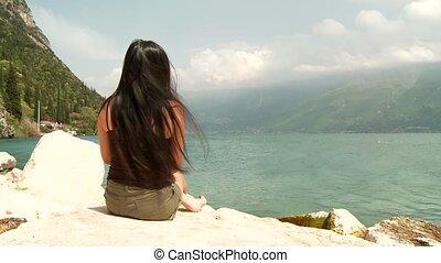 Woman At Lake Garda, Italy
