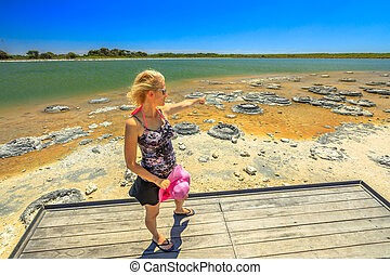 Woman at Lake Thetis