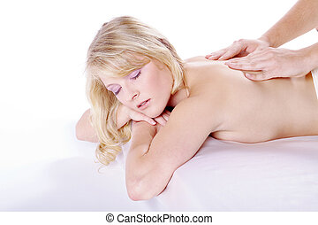 woman at massage