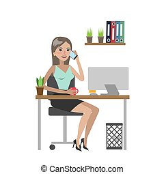 Woman at office.