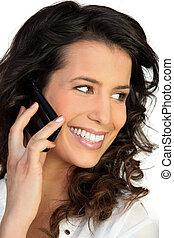 woman at phone