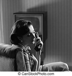 Woman at phone