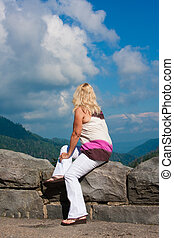 Woman At Scenic Overlook